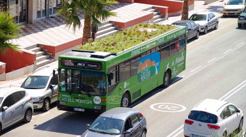 Сад на крыше автобуса