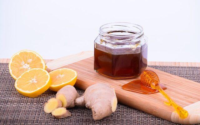 лимоны, мед, имбирь